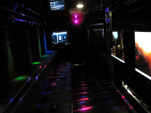 Awesome Laser Lighting in our game truck!